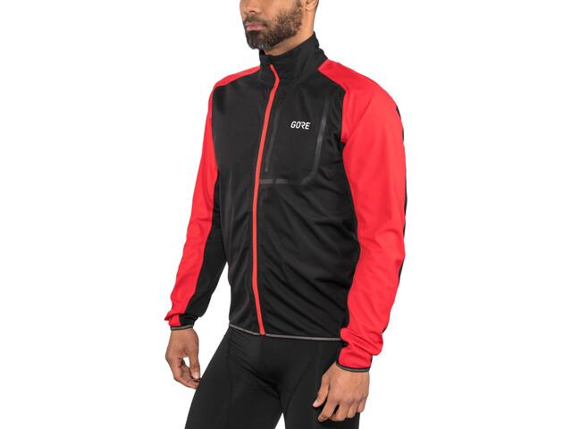GORE WEAR C3 Gore Windstopper Jacket Men black/red
